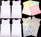 4pk Girls Tank Tops 100% Cotton MGM Undershirts Infant Toddler Preteen Size 1-12