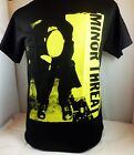BLK YEL MINOR THREAT STRAIGHT EDGE HARDCORE PUNK ROCKABILLY MEN'S T-SHIRT