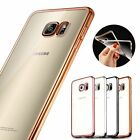 Ultra Thin Clear Crystal Rubber Plating TPU Gel Soft Case For Samsung Galaxy