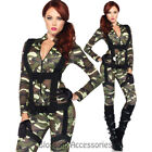 CL659 Pretty Paratrooper Ladies Military Army Soldier FBI Party Costume