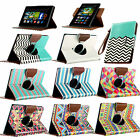 """For Amazon Kindle Fire HD 7"""" 2013 Folio PU Leather Case Rotating Cover Stand"""
