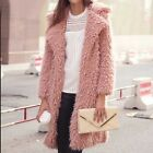 Women fake Wool Long Sleeve Sweaters coat Velvet Loose Cardigan Outwear
