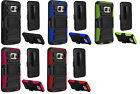 Belt Clip Holster + Kickstand Hybrid Cover Phone Case For Samsung Galaxy S7 G930