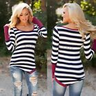 Fashion Women Casual Long Sleeve Crewneck Loose Blouse Lady Sexy Top T Shirt HOT