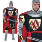 Mens Knight Fancy Dress Costume King Arthur Medieval Adult Outfit