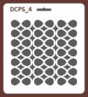 Scrapbook Decoupage Stencil Seamless Abstract 5 sizes available 0,35mm DCPS4