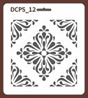 Scrapbook Decoupage Stencil Seamless damask 5 sizes available 035mm thick DCPS12