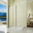 1850mm Modern Walk In Wet Room Shower Enclosure Glass Screen Cubicle Fixed Panel