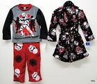 Disney Star Wars Kids Plush Robe with 2 Pc Fleece Pajamas Sleepwear Boys Pajama