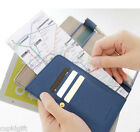 Anti Skimming Passport Wallet Holder Cover ID Card Ticket Receipt Pocket Case