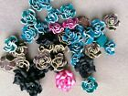 50 - 300pcs Colourful Polymer Clay Flower Beads For Craft Jewellery Cards Making