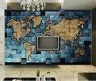 3D Blue world map 814 WallPaper Murals Wall Print Decal Wall Deco AJ WALLPAPER