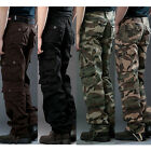 New Men's Casual Military Army Cargo Camo Combat Work Pants Trousers Camouflage