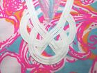 New Lilly Pulitzer BREWSTER DRESS M L Shorely Blue Feeling Tanked T Shirt Dress