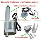 12V Complete Electronic Single Axis Solar Tracking Controller Kit for SunTracker