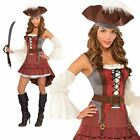 Ladies Deluxe Pirate Costume Buccaneer Womens Wench Fancy Dress Outfit Size 8-20