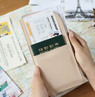 Doux Souvenir Passport Wallet Holder Case Cover Ticket Card Travel Pouch Bag
