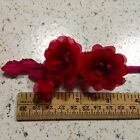 "Millinery Flower 1 1 2"" Rose in Spray Doll Size Choose Pink White Red Black KZ26"