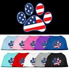 Patriotic Paw 4th of July Dog Shirt Pet Puppy Clothes Apparel Tee Pajamas
