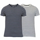 Mens T Shirt By Brave Soul Striped Short Sleeved
