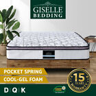 COOL GEL Memory Foam Mattress Euro Top Pocket Spring QUEEN DOUBLE KING Bed