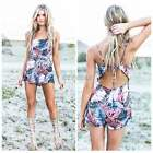 Women Lady Sexy  Jumpsuit High Waist Backless Beach Playsuit Shorts Rompers Hot