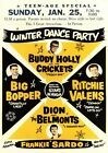 RR21 Vintage Buddy Holly Rock & Roll Concert Advertisement Music Poster A3/A4