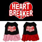 Heart Breaker Screen Print Dog Dress  Valentines Day Puppy Clothes Apparel