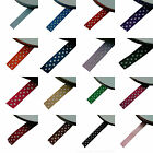 various colours 25Metre 10mm Woven edged Grosgrain spotty/dotty/polka dot Ribbon