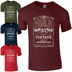 Made in 1972 T-Shirt Born 44th Year Birthday Age Present Vintage Funny Mens Gift
