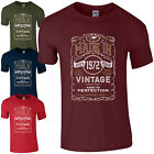 Made in 1972 T-Shirt Born 46th Year Birthday Age Present Vintage Funny Mens Gift