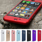 360° Full Hybrid Tempered Glass + Acrylic Hard Case Cover For iPhone 6 6s Plus