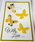 Butterfly with Love Cards - Birthday-Friend-Female-Mother-Thank-You Get Well