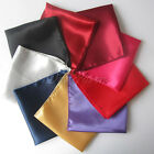 "50pcs Satin Table Napkin or Handkerchief 12"" Square Multi Purpose Dinner Decor"