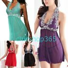 Sexy Soft Silky Babydoll Lingerie night gown nightwear Plus Size 12 14 16 18 20