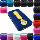 FOR ZTE N817 UHURA RUGGED HYBRID ARMOR IMPACT CASE COVER ACCESSORY+STYLUS