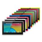 """7"""" Quad Core Tablet PC 8GB Android 4.4 HD Dual Camera WiFi 3D Game Refurbished"""