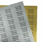 Personalised Gold or Silver Stickers/Address Labels - 65 per sheet 38.1x21.2mm