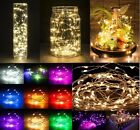 40Leds 4m Micro LED Battery Operated String Lights Silver Copper Wire Xmas Decor