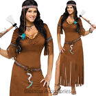 CL762 Indian Summer Pocahontas Native American Wild West Fancy Dress Costume