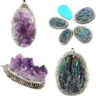 Natural Amethyst Titanium Druzy Crystal Agate Gemstone Pendant Fit Necklace 1PC