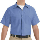 Red Kap SP24MB Short Sleeve Poplin Petrol Blue Shirt