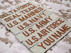 Tan Chest Tapes Custom name Tapes ARMY NAVY  SEAL DELTA Embroidery Patch