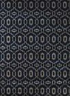 Radici Navy Rings Loops Hoops Circles Contemporary Area Rug Geometric 6692