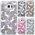Stylish Dynamic Liquid Glitter Cute Unicorn Hard Clear Phones Case Cover Shell