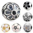 Authentic 925 Sterling Silver Flower Stopper Bead European Charms Bracelets