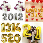 """Gold/Silver Foil Letter Number Balloons Birthday Wedding Party Decoration 16""""/40"""