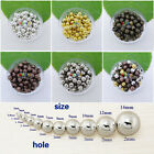 Wholesale Metal Round Spacer Loose Beads DIY Findings 2mm,3mm,4mm,5mm,6mm 5Color
