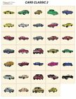 CARS CLASSIC 2. CD or USB machine embroidery designs files many formats pes etc