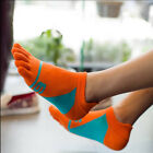 Men's Casual Five Fingers Toe Socks Colorful Cotton Boat Socks Comfortable tb